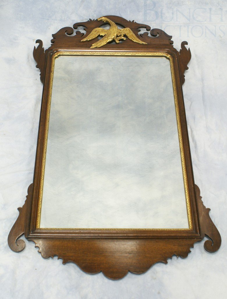 6101A: Chippendale Style Mahogany Fretwork Wall Mirror