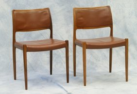 6 Rosewood And Leather Mid-Century Design Dining