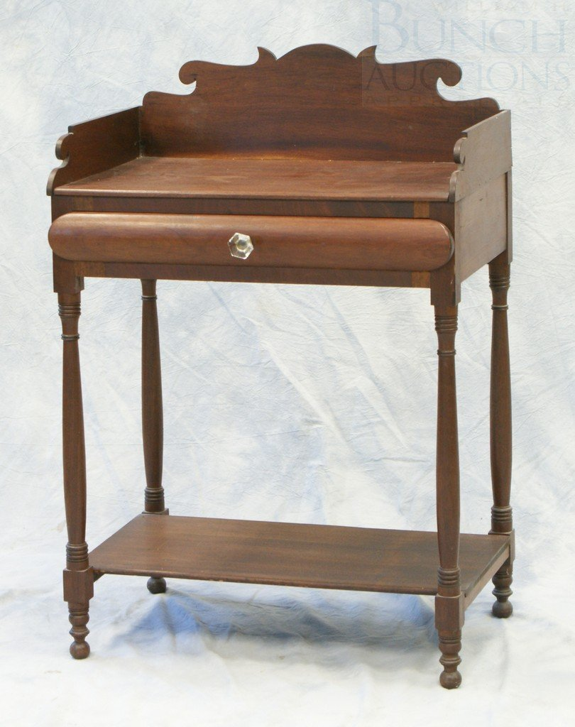 6149A: Mahogany Sheraton Wash Stand with a bowed front