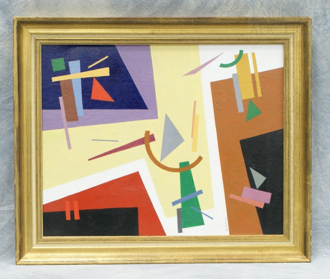 6153: Seymour Zayon, American, 1930, geometric shapes o