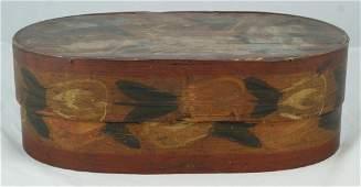 6342 Scandinavian painted brides box 15 x 8 14