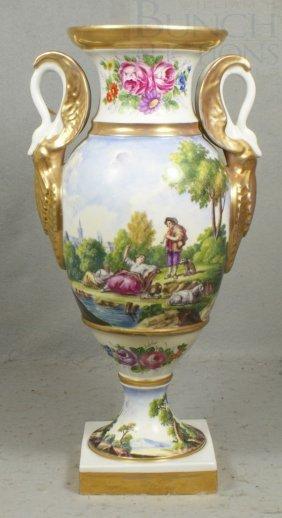 French Porcelain Vase With Pseudo-Sevres Mark, Bu