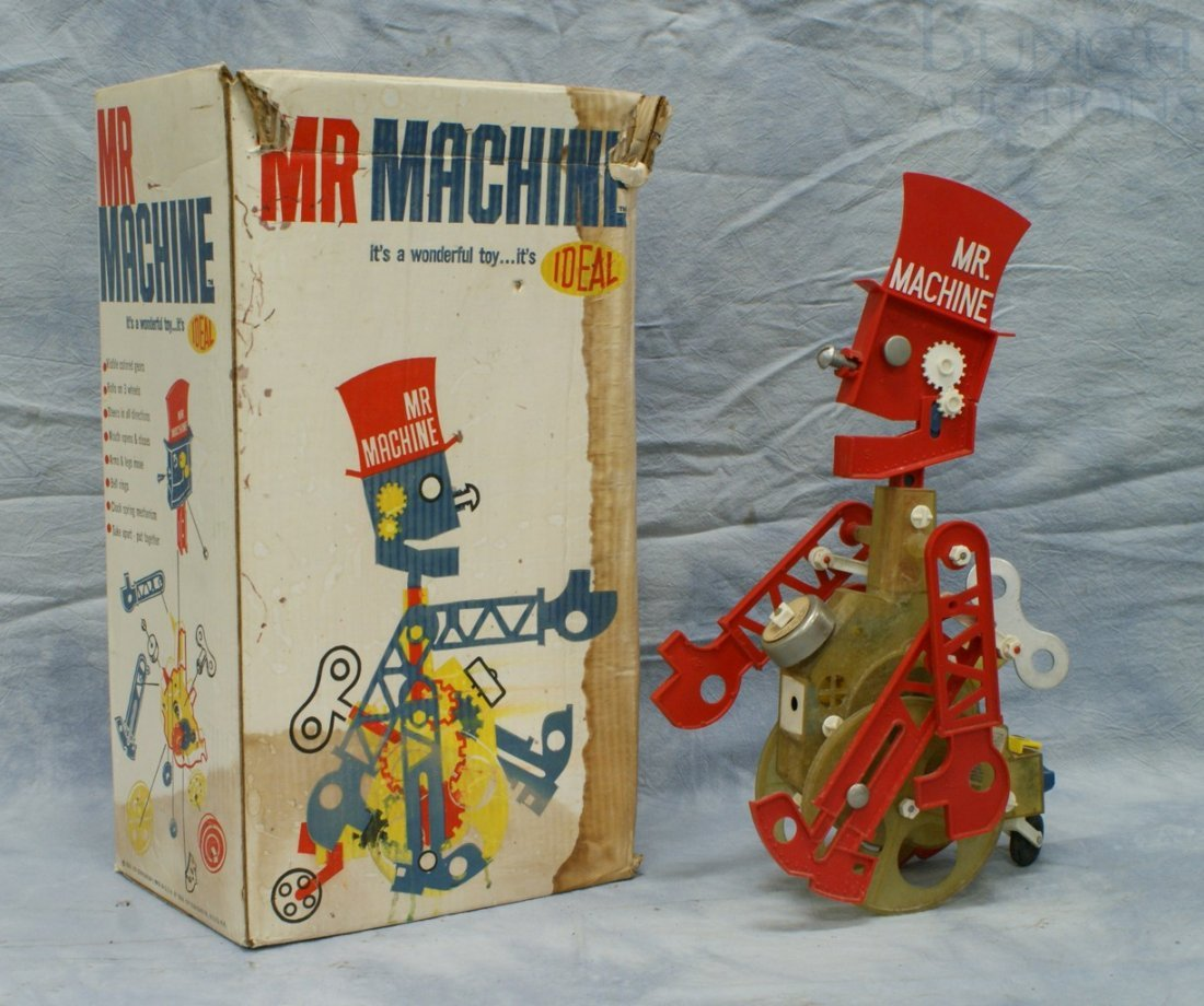 7047: Ideal Mr Machine wind-up toy with original box, 1