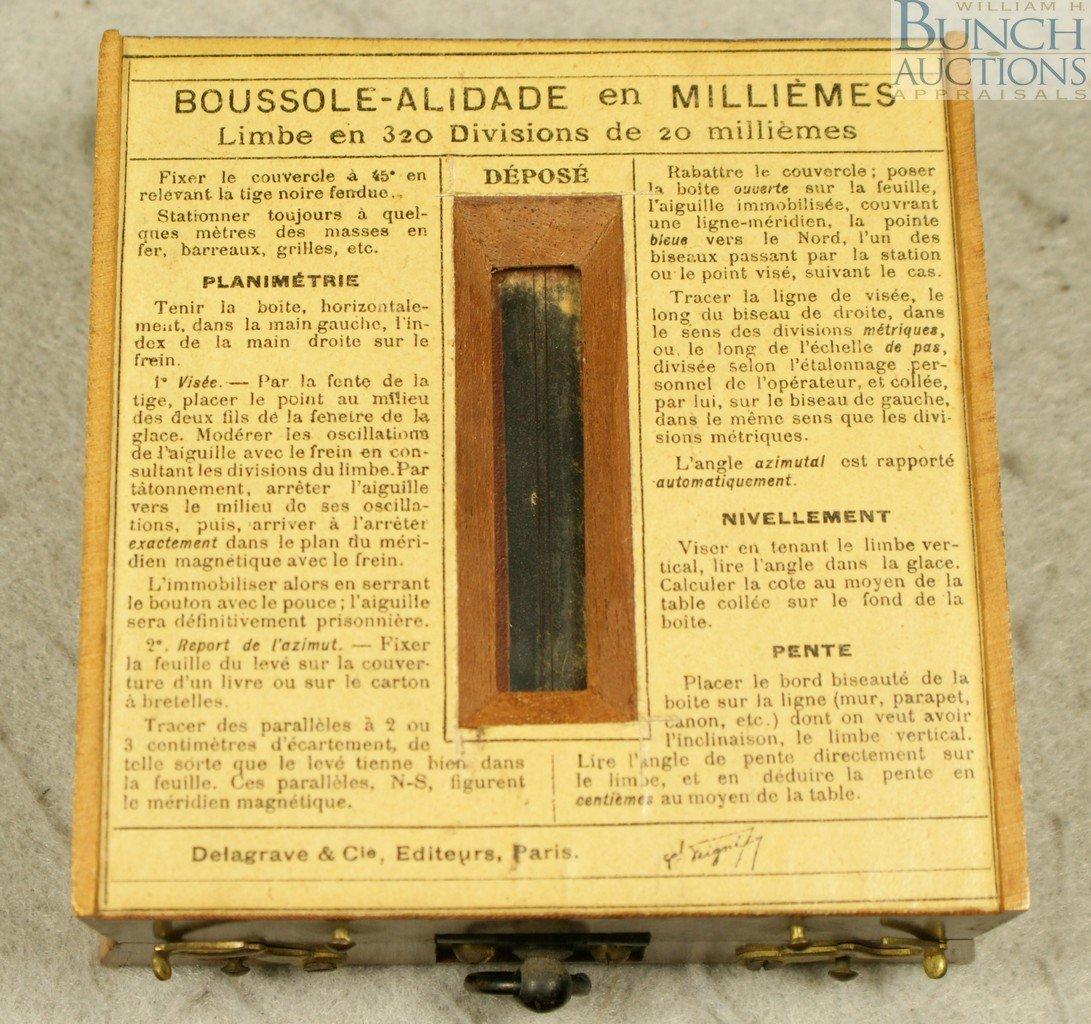10097: BOUSSOLE ALIDADE EN MILLIEMES DU GÉNÉRAL PEIGNÉ, - 3
