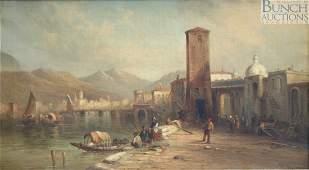 Alfred Pollentine, British, 1836-1890, o/c, A Sc