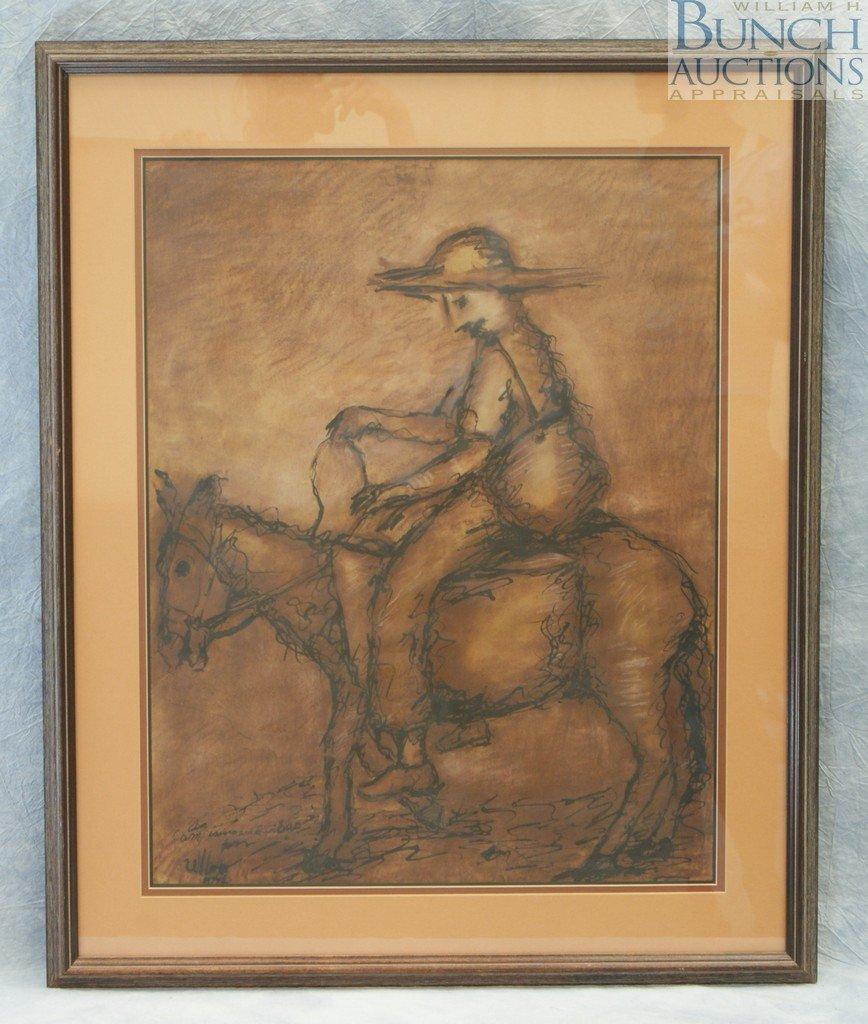 9802: Alberto Ulloa, Dominican, b 1950, watercolor and