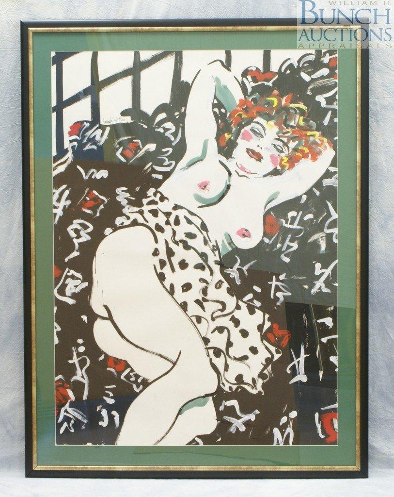 """9803: Amanda Watt, Irish, b 1960, acrylic, """"Untitled"""" ["""