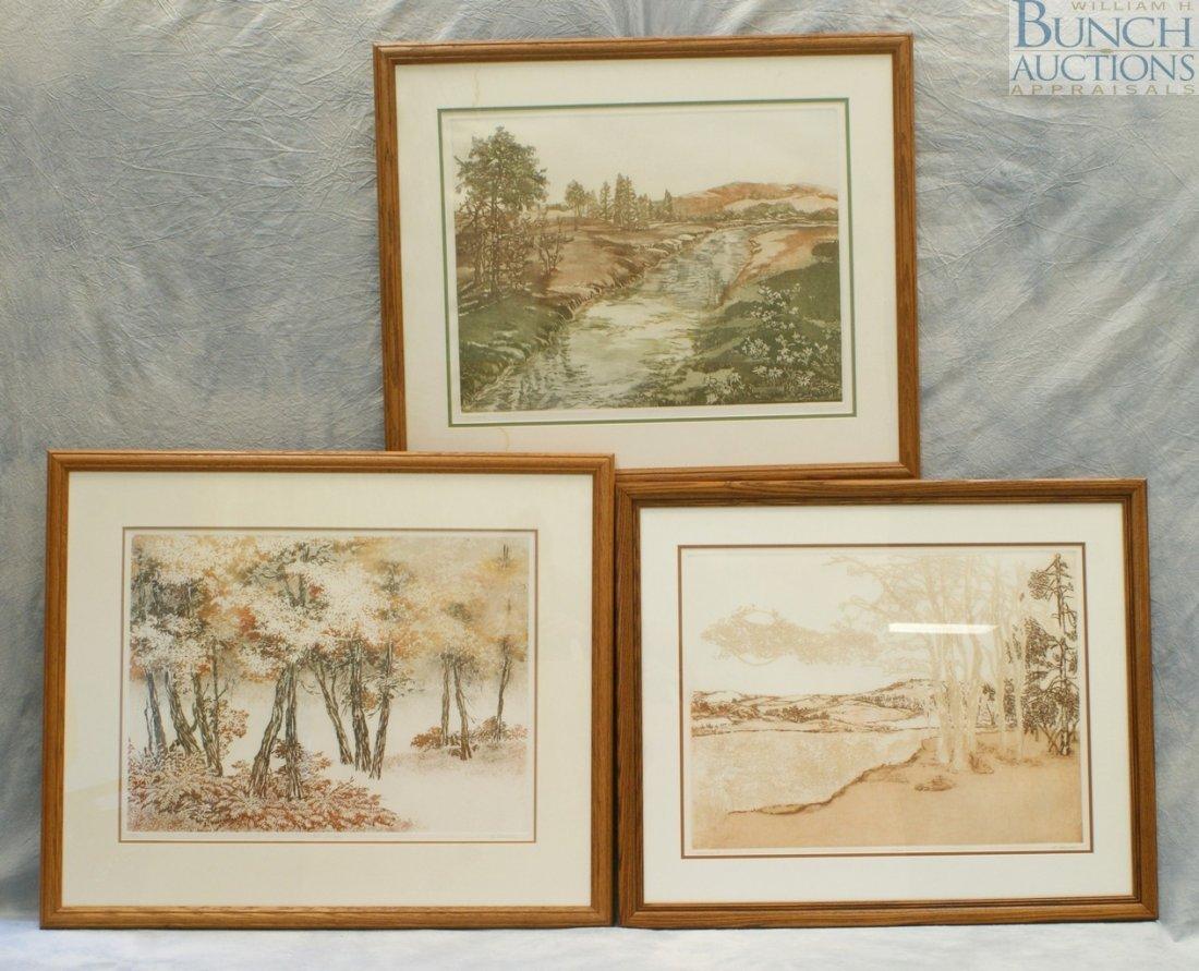 "9805: (3) Beatrice Dauman limited edition etchings, ""Va"
