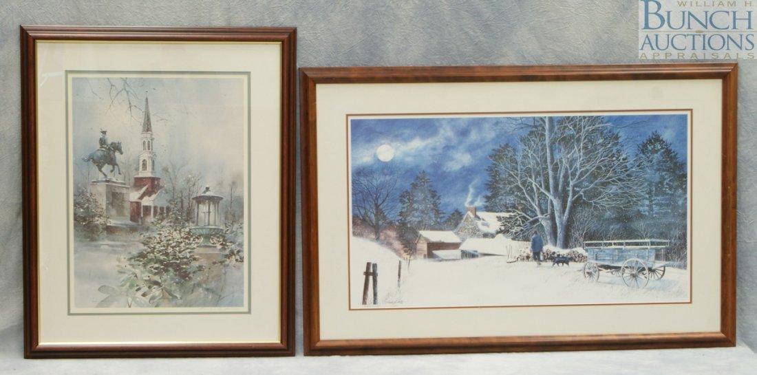 9808: (2) prints, C Phillip Wikoff, limited edition pri