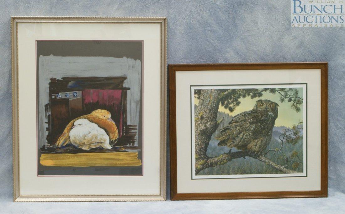 9809: (2) Prints, Carl Brenders, Belgian, b 1937, limit