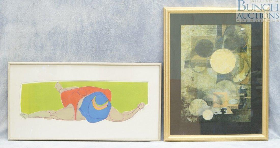 9812: (2) American artists, Clare Ferriter, American, b