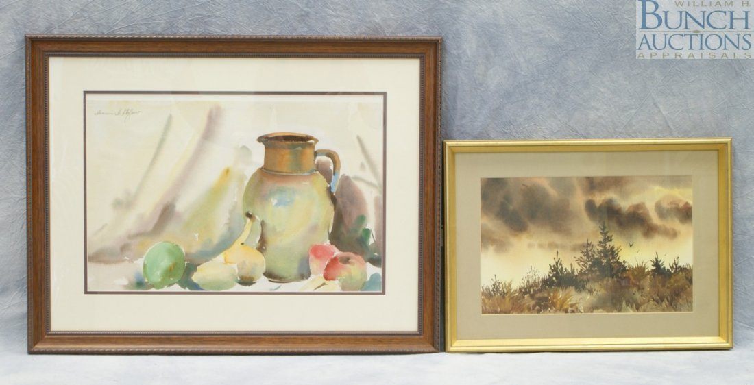 9815: (2) Watercolors, Dominic DiStephano, watercolor,