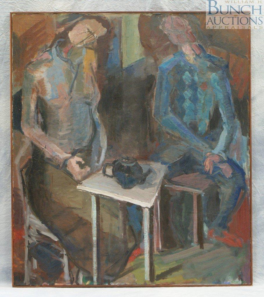 9816: Bennett Siegel, American, framed, oil on canvas,