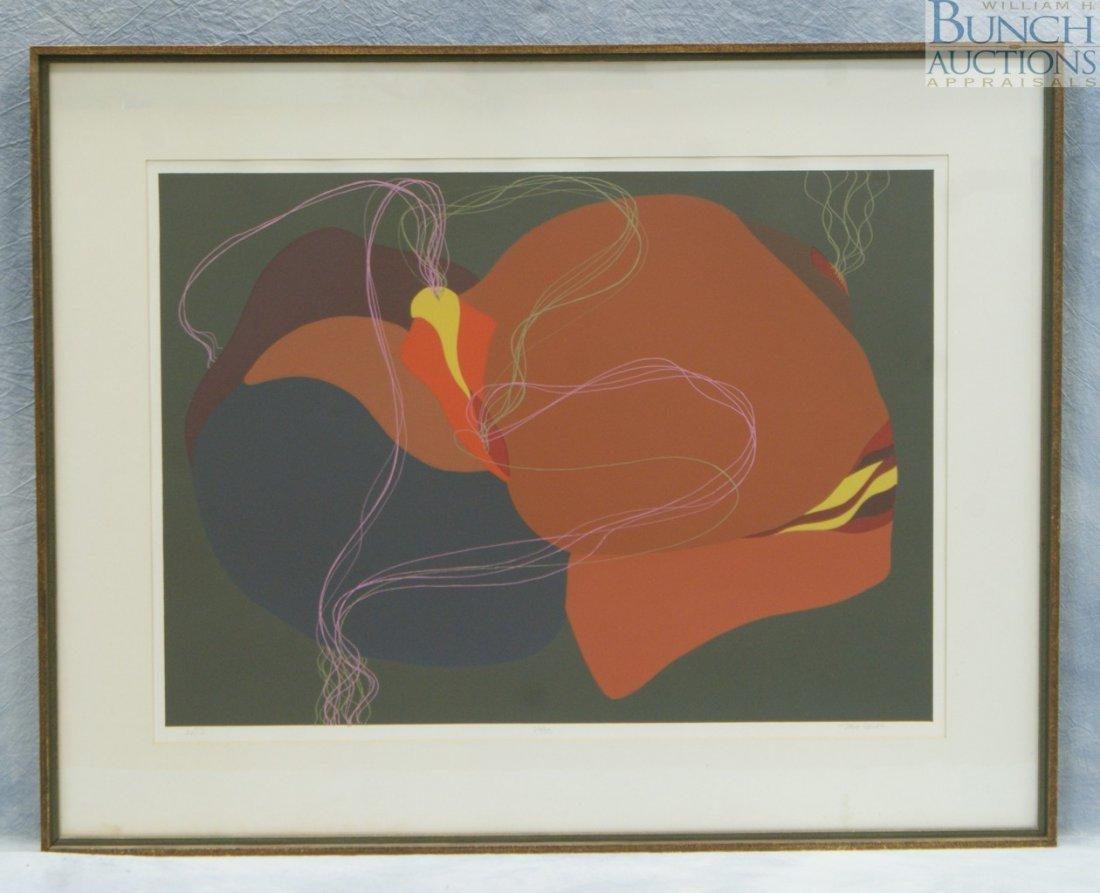 "9819: John Bolles, American, ""Ant II"" 26/30, lithograph"