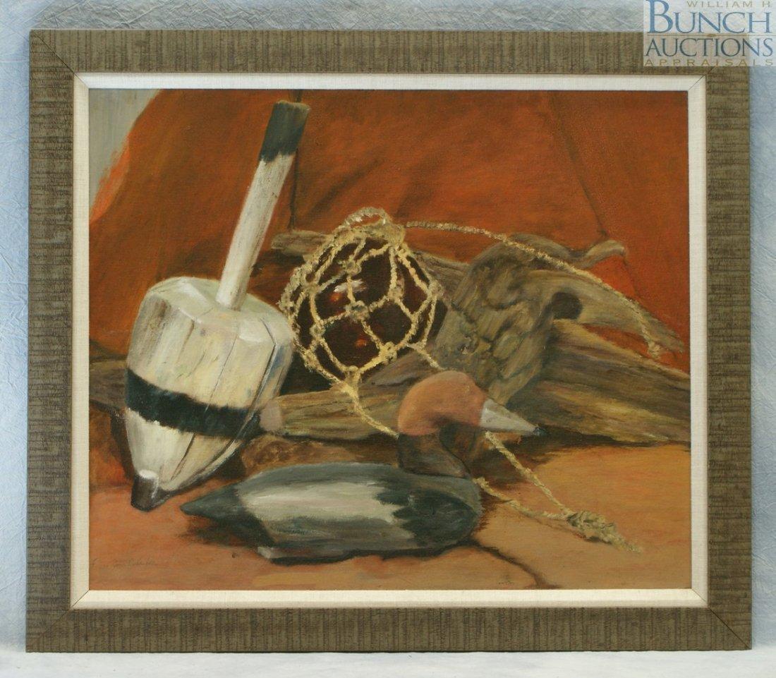 9822: Frances Nolan Richardson, American, oil on canvas