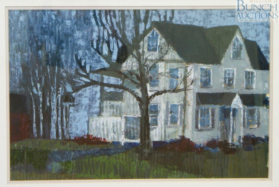 "9823: Franciska Needham, American, oil on paper, ""Stant"