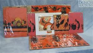 9939 Lot of Dennison Halloween paper goods including