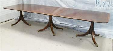 """10281A: 3-Pedestal Georgian style banquet table, 29"""" h"""