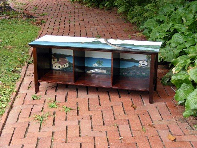 1: Landscape Scene Storage Bench by Super (Susan Gordon