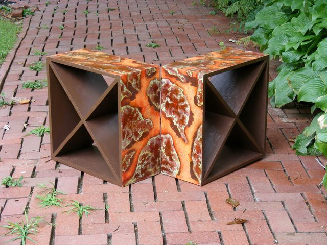 2: Abstract Wine Storage Table/Rack by Erica Brown