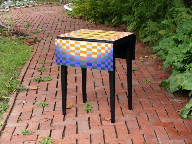 5: Geometric Design Drop Leaf Table by Brad Mattes