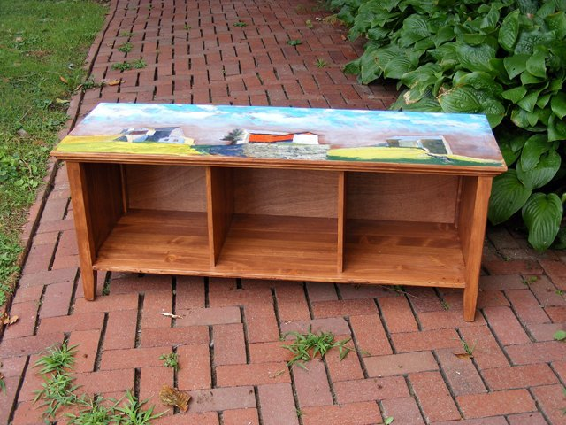 9: Painted Barns Storage Bench by Sherry McVickar