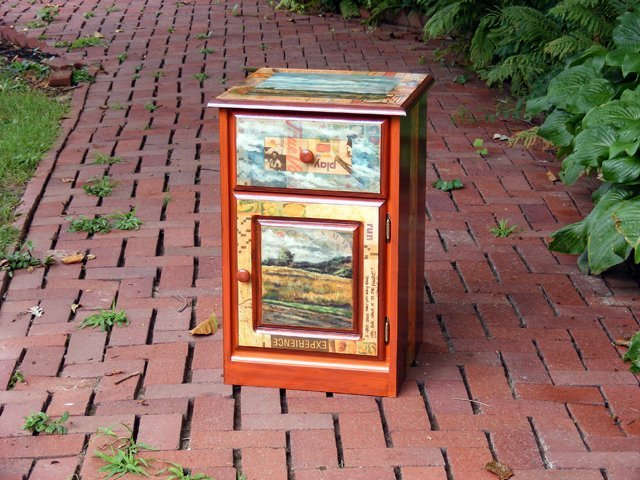 10: Collage and Landscape Scene Cabinet by Amelia Furma