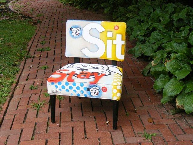 11: Upholstered Pop Art Side Chair by Jeff Schaller