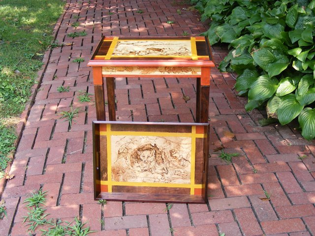 13: Fox & Hounds Themed Tray Table by Nancy Thompson