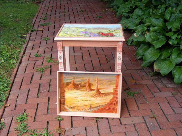 15: Southwest Landscapes Tray Table by Evalyn Eckman
