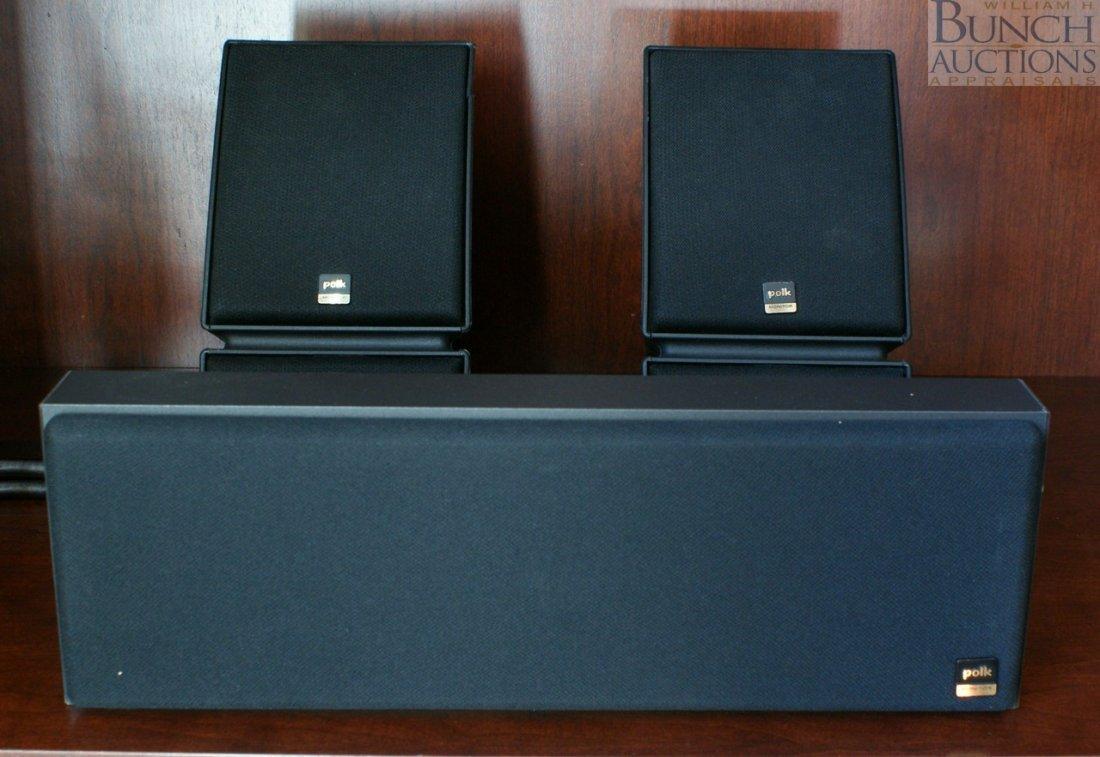 4: Three Polk audio speakers, monitor series 2