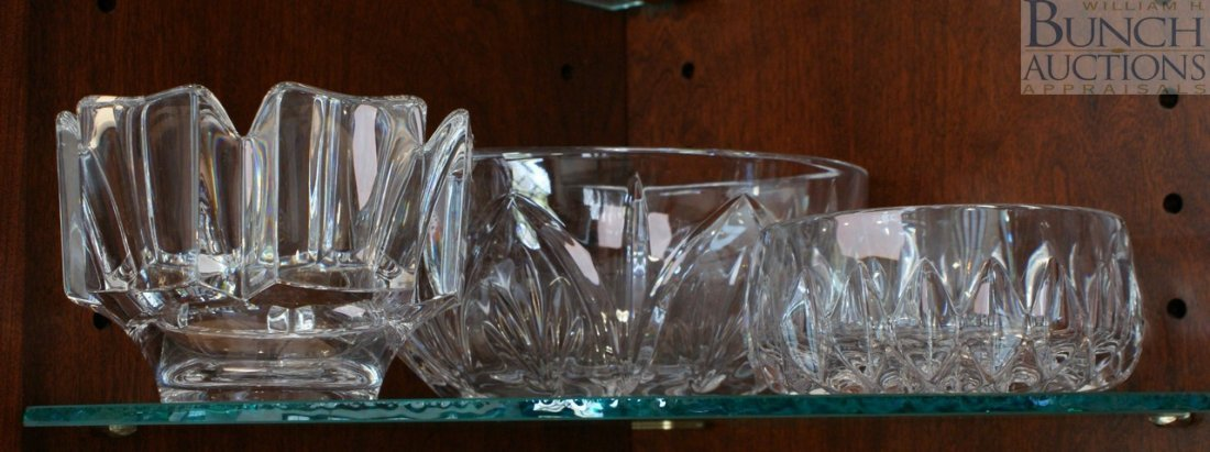 16: Orrefors crystal bowl with 2 other crystal bowls