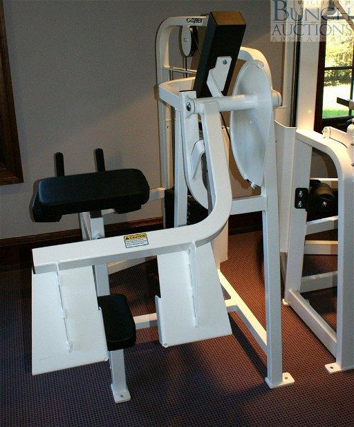 302: Cybex glute machine, all gym equipment is c 2000 &