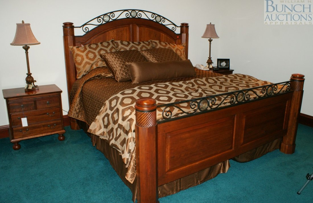579: Four Piece Cherry Bedroom Suite By Bob Timberlake