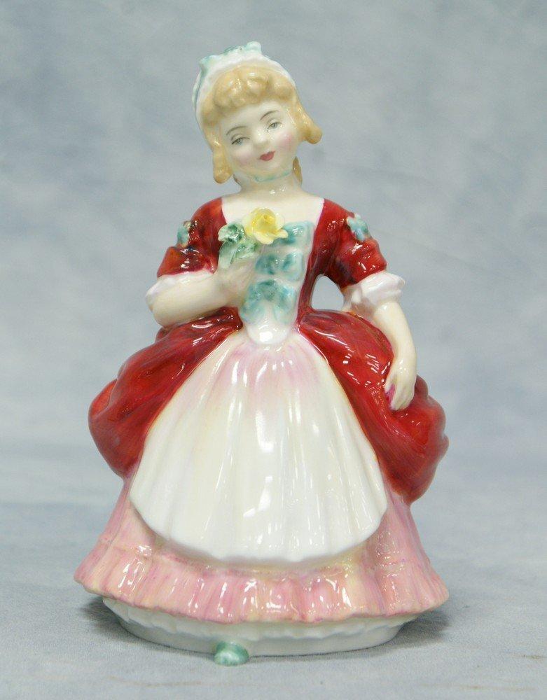 """8005A: Royal Doulton Valerie figurine, HN 2107, 5"""" tall"""