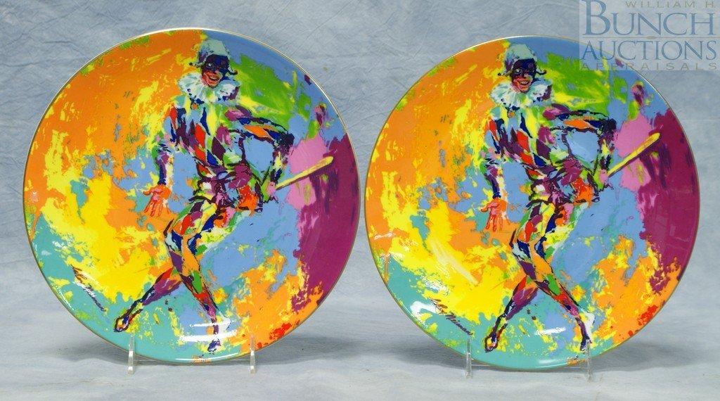 8009: (2) Royal Doulton Leroy Neiman Harlequin plates,