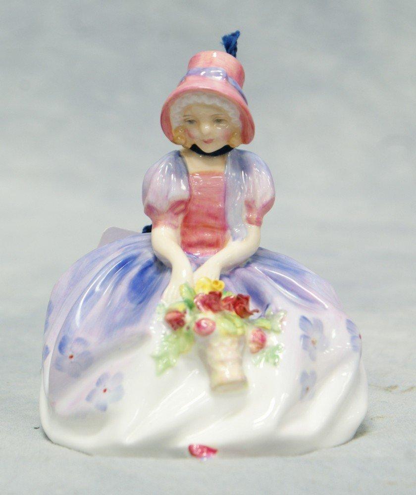 "8009A: Royal Doulton Monica figurine, HN 1464, 4 1/2"" t"