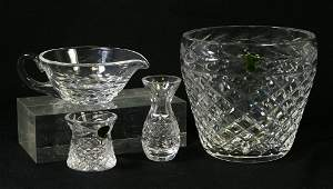 8166: (4) Pieces of Waterford Crystal Glandore with dia