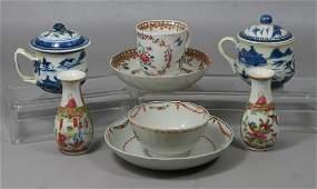 6 pcs Chinese Export porcelain 2 Nanking pot de crmes