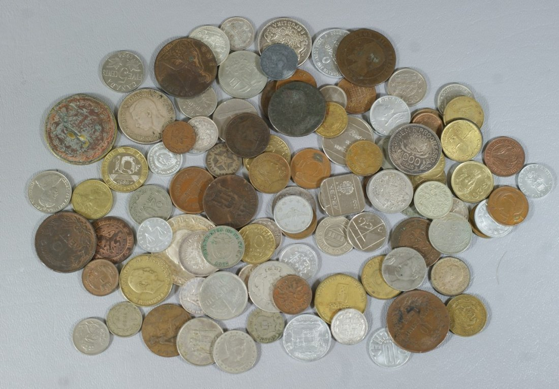 Bag lot of 19th/20th century foreign coins, some silver