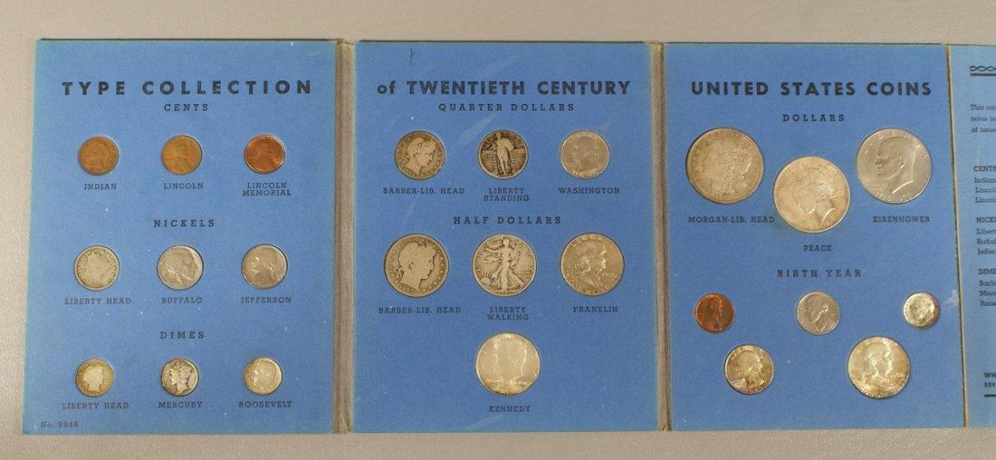 24 piece 20th century type set in a Whitman folder, CIR