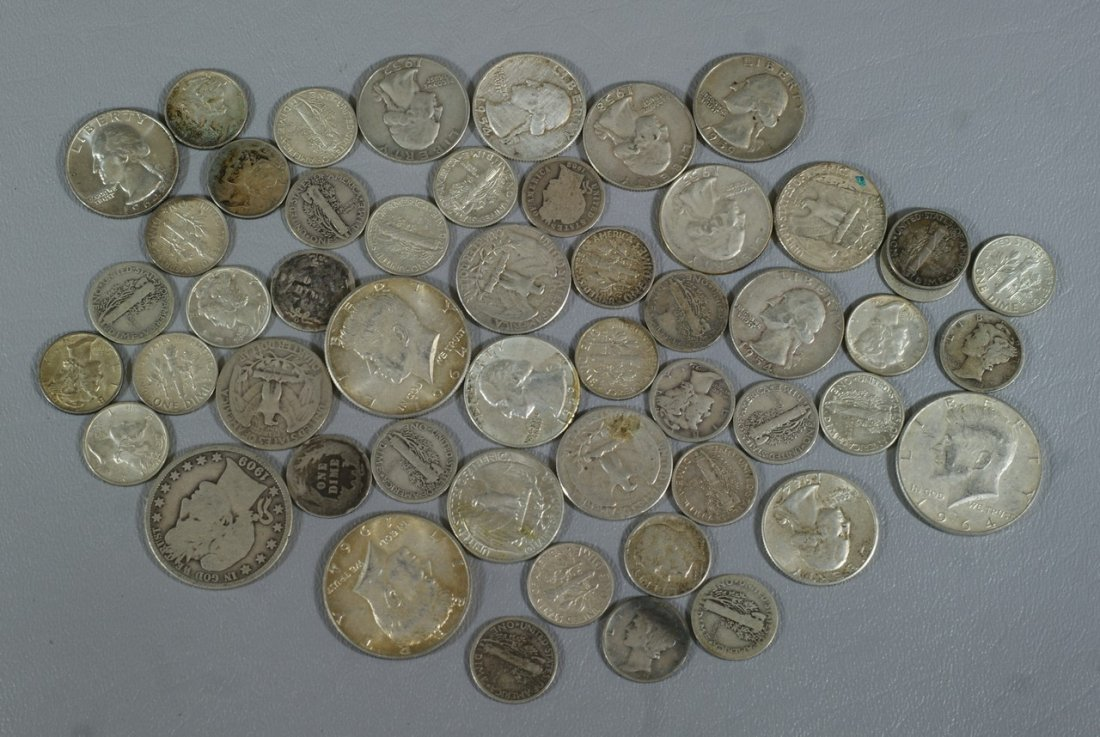 $8 and 80 cents in 90% dimes to halves