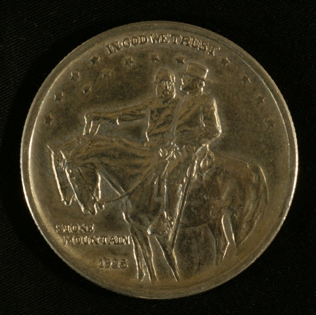 1925 Stone Mountain half EF (cleaned)