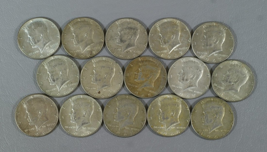 $7 and 50 cents face value 40% silver Kennedy halves