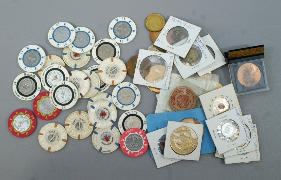 Token and medal lot, including about 25 Atlantic City c