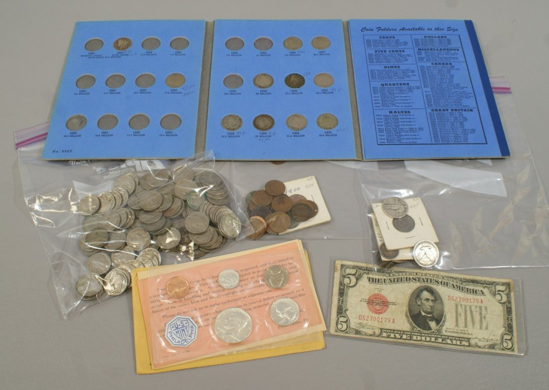 A US coin accumulation, including a 1964 proof set, a 1