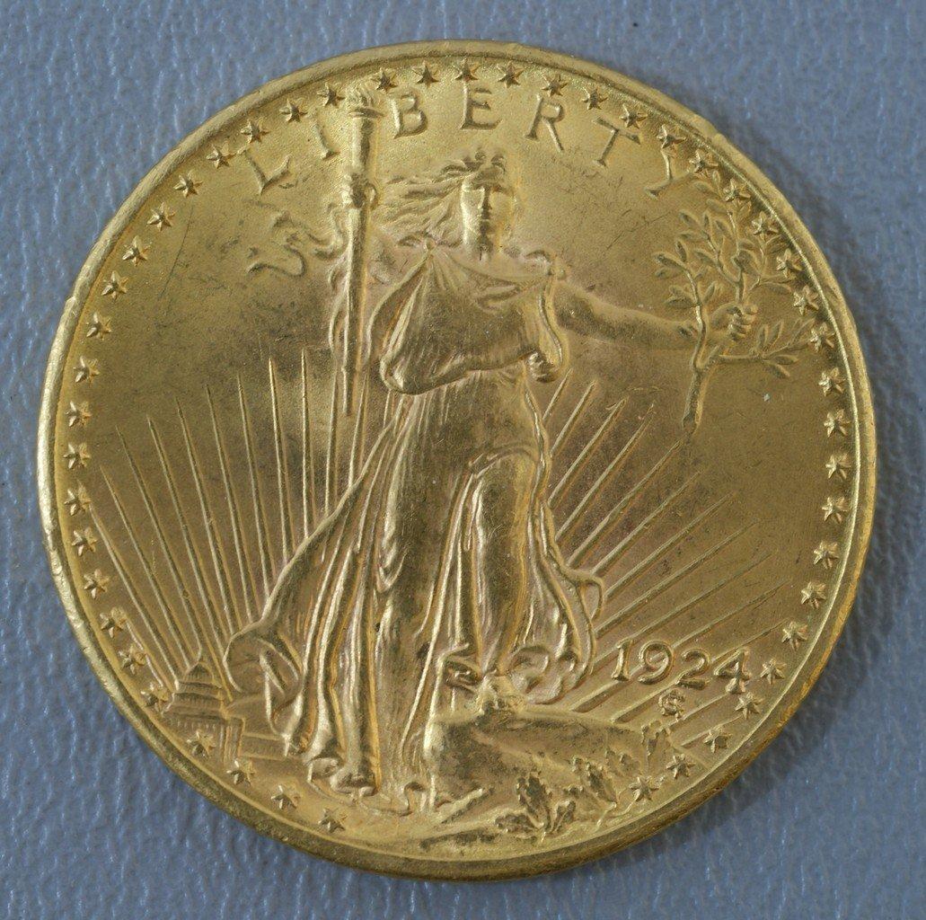1924 $20 St. Gaudens gold MS64