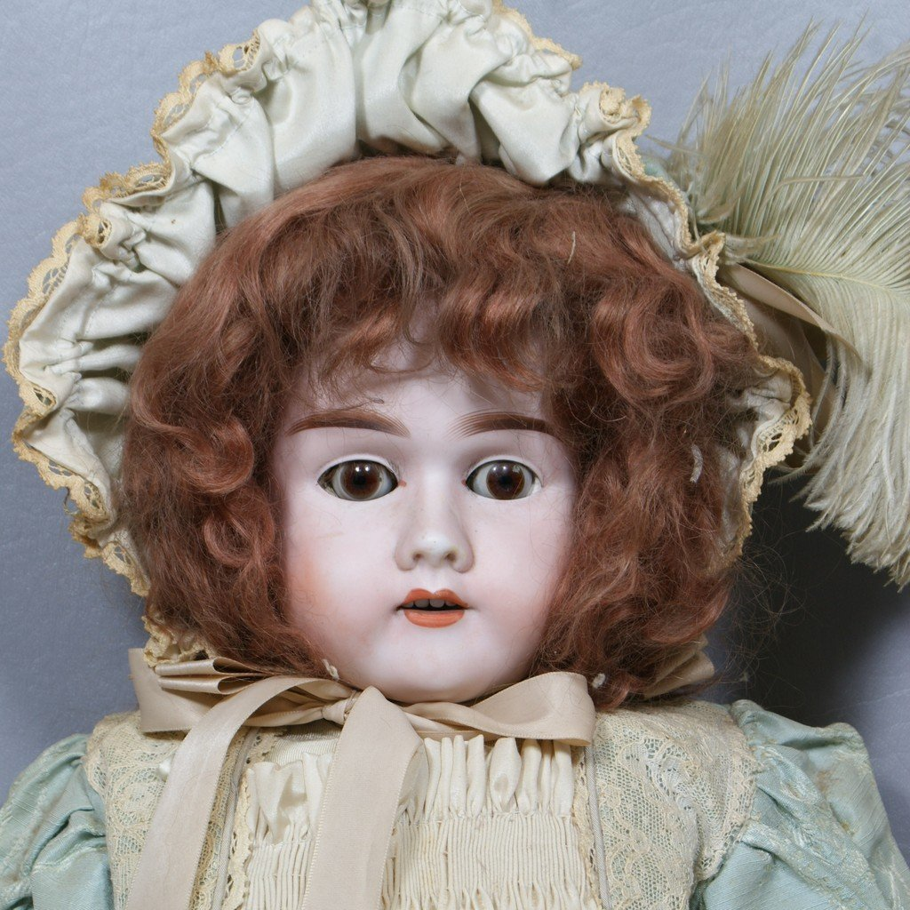 "Bisque Socket head doll incised ""Max Handwerck Germany"
