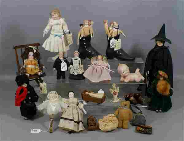 Lot of Bisque, Artist and Reproduction dolls, including