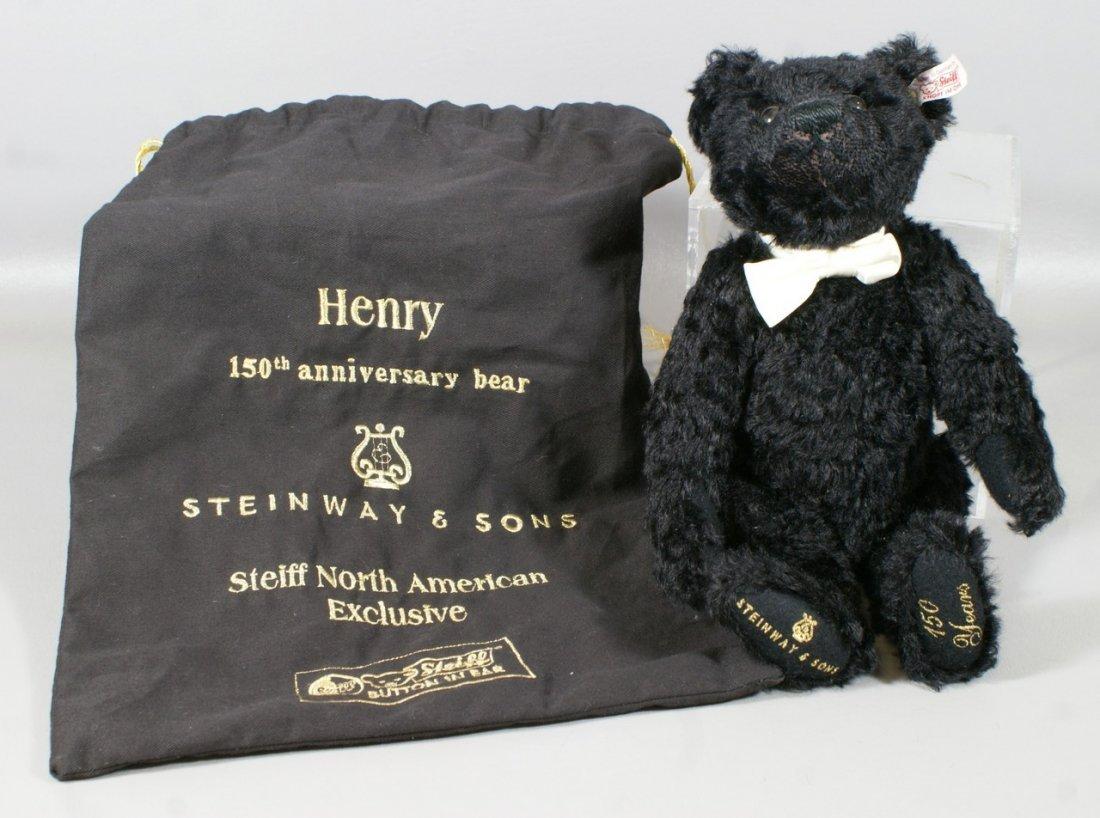 "Steiff Steinway Piano Anniversary Black Bear, Ltd Ed, """
